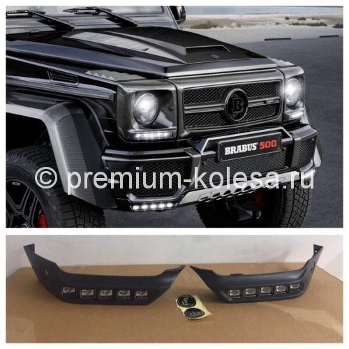 Накладки бампера Brabus со светодиодами на NEW Mercedes-Benz W463 Gelandewagen