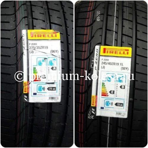 Летние разноширокие шины Pirelli P Zero 24540 R19 27535 R19